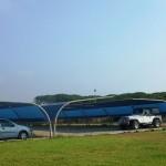Il parcheggio coperto del Lido Erica a Baia Domizia