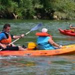 In canoa sul fiume Garigliano