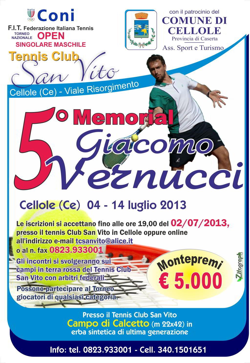5° memorial vernucci di tennis 2013
